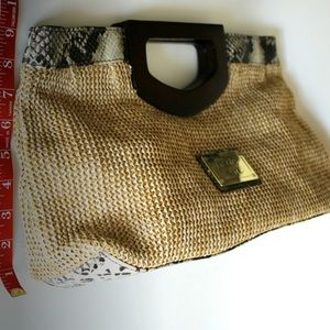 Nicole by Nicole Miller Straw Handbag/ Clutch